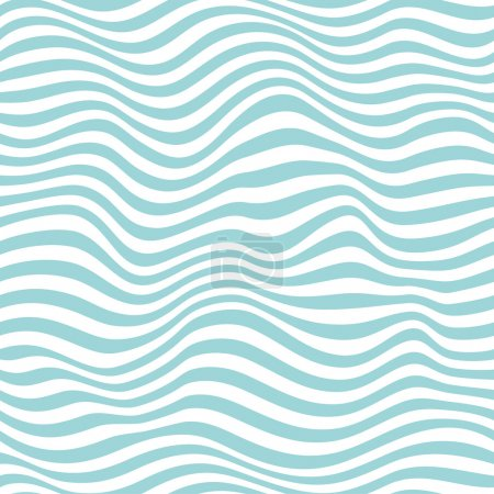 Illustration for Seamless light blue striped background. Vector illustration - Royalty Free Image