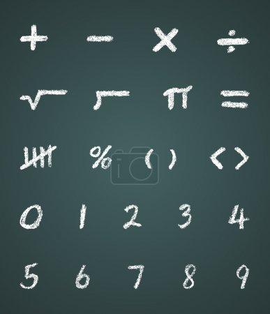 Chalk Math Symbols