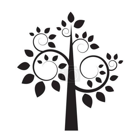 Black silhouette of tree