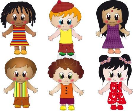Photo pour Illustration enfants isolés - image libre de droit
