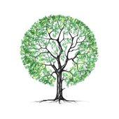 Ein Baum, Sommer, Zeichnung