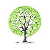 Strom, jaro, kresba
