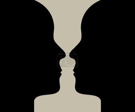 Silhouette of vase