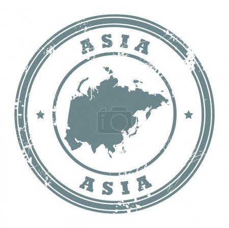 Asia stamp