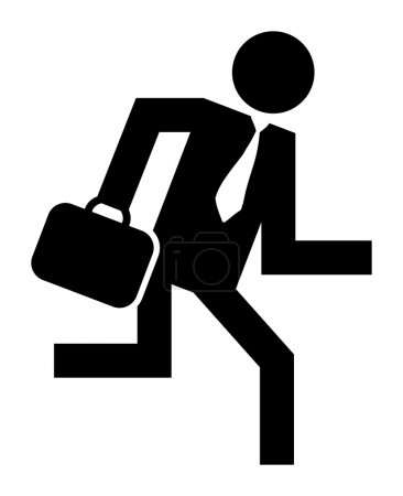 Businessman running icon