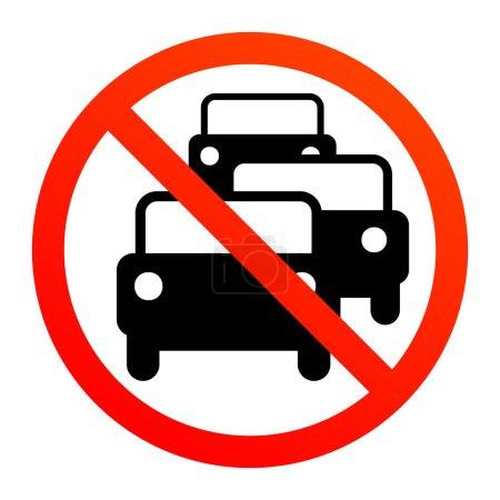 No traffic jam sign
