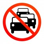 No traffic jam sign...