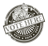 Hlasujte zde, razítka