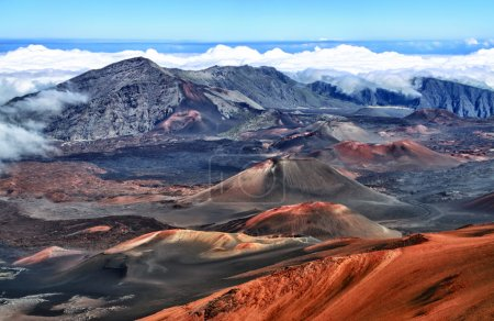 Crater of Haleakala volcano (Maui, Hawaii) - HDR image