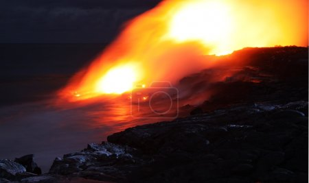 Lava entry in to the ocean (Big Island, Hawaii)