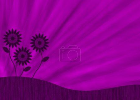 Purple retro flower background