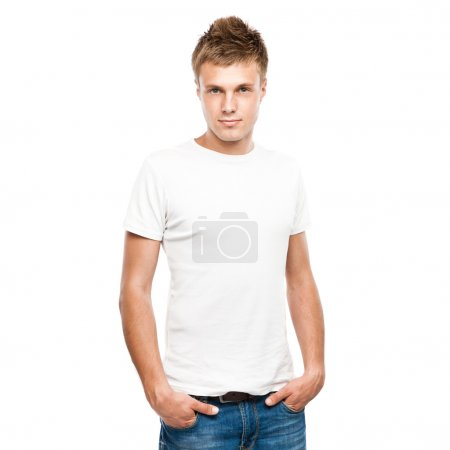 Handsome young man in a casual style clothing