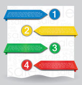 Illustration of different colored web banners for your website