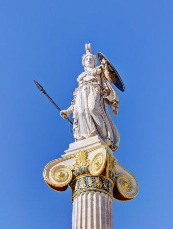 Statue of goddess Athena, Athens, Greece