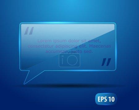 Ilustración de Vidrio ventana de chat en formato vectorial - Imagen libre de derechos
