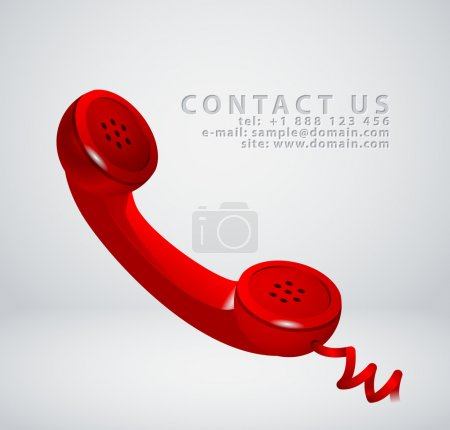 "Vintage phone receiver as ""contact us"" icon"