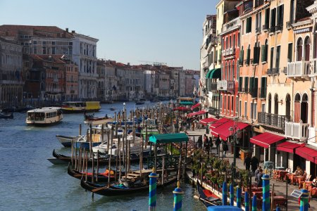 Traffic in Venice on Grand Canal, Italy