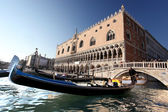 Venice with Doge palace on Piazza San Marco in Italy
