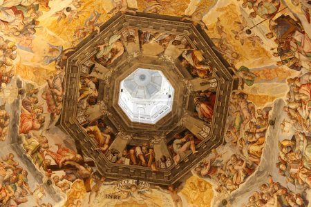 Interior view of the painting of dome. Basilica di Santa Maria del Fiore, Duomo, Florence, Italy