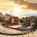 Taormina theater in Sicily, Italy...