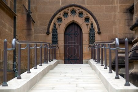 Entrance to st. Mary's Cathedral Cathedral.
