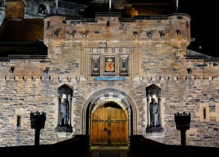 Photo for Castle at night. Edinburgh. Scotland. UK. - Royalty Free Image