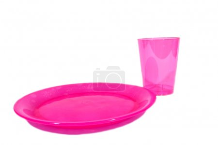 Pink Cup and Plate