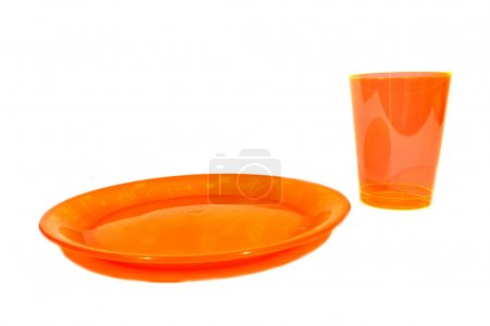 Orange Cup and Plate