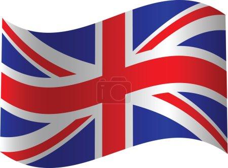 UK waved flag