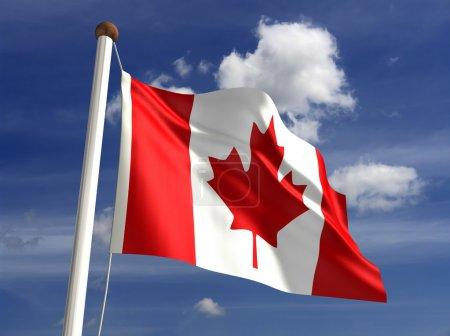 Photo pour Drapeau 3D du Canada (avec chemin de coupure ) - image libre de droit