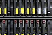 Síťový server rack pevné disky zblízka