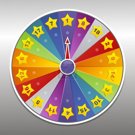Illustration for Vector wheel of fortune - Royalty Free Image