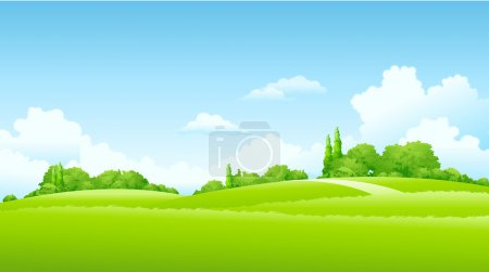 Illustration for Green Landscape in sunnyday - Royalty Free Image