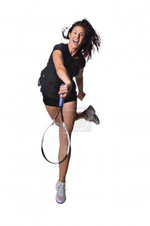 Pretty female tennis player