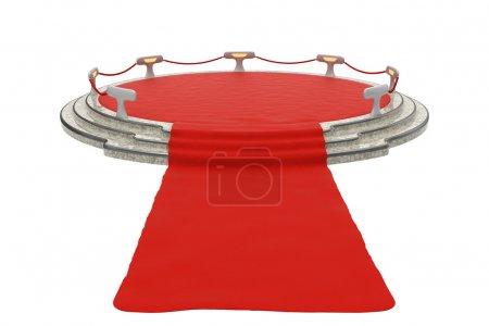 Red carpet to podium