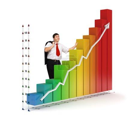 Business man - Financial graph