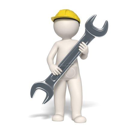 Service symbol - 3d man
