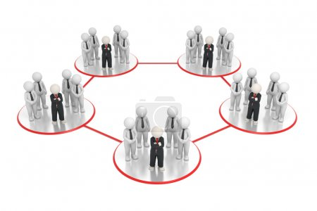 Network - 3d business teams network