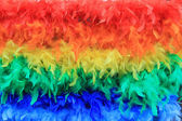 Rainbow feathers background