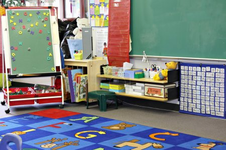 Photo for Kindergarten, preschool classroom. - Royalty Free Image