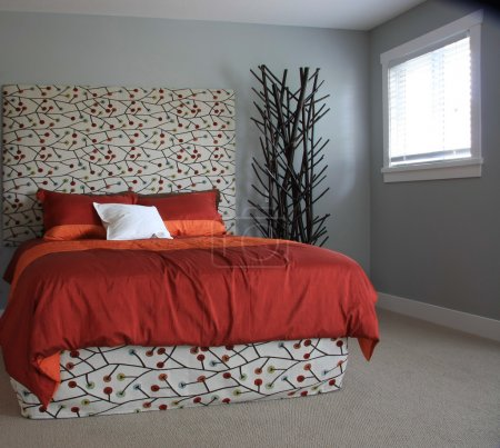 Photo for Contemporary bedroom - Royalty Free Image