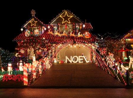 Photo for Beautiful Christmas light display. - Royalty Free Image