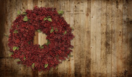 Photo for A country Christmas wreath. - Royalty Free Image