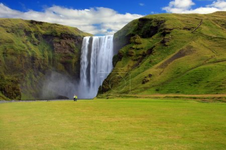 Photo pour Skógarfoss waterfall, Iceland. - image libre de droit
