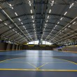 Empty multi sport arch hall