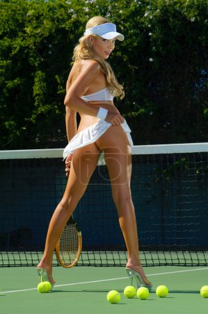 Photo for Sexy tennis girl - Royalty Free Image