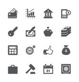 Finance and business simple minimalistic icon set