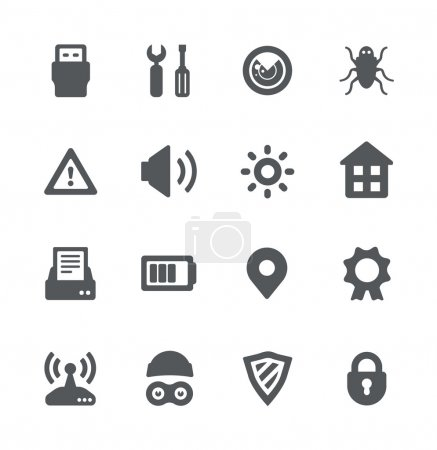 Security device simple icons