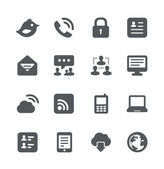 Internet communication simple minimalistic icons set