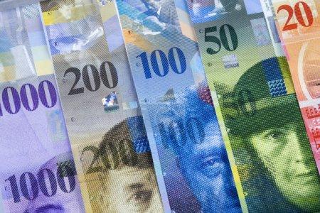 Photo pour Franc suisse billets fond - image libre de droit